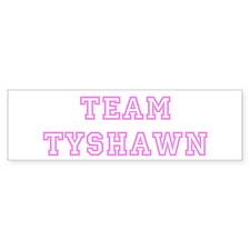 Pink team Tyshawn Bumper Bumper Sticker