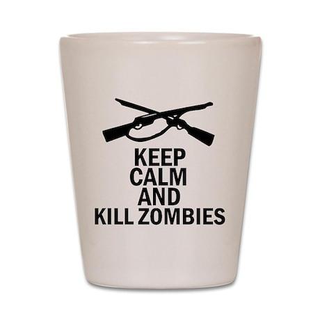 Kill Zombies Shot Glass