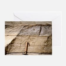 Cross-bedded sand layers - Greeting Card