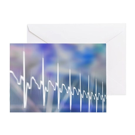 ECG, computer artwork - Greeting Card