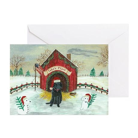 Christmas Labrador Greeting Cards (Pk of 10)