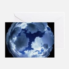 Fisheye lens view of cloud cover - Greeting Card