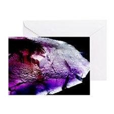 Fluorite cubic crystals - Greeting Card