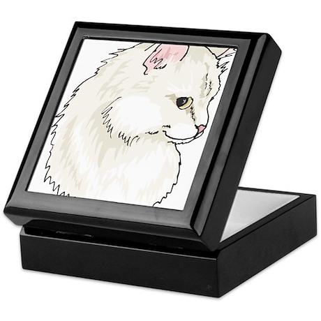 White Kitty Cat Face Keepsake Box