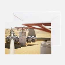 Gas well valve - Greeting Card
