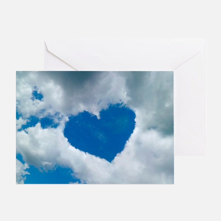 Heart-shaped cloud formation - Greeting Card