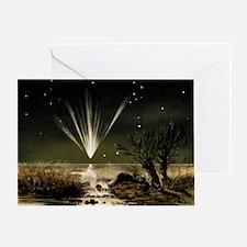 Great Comet of 1861, artwork - Greeting Card