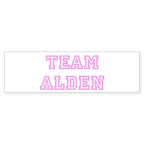 Pink team Alden Bumper Sticker