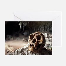 Homo floresiensis skull - Greeting Card