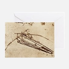 Leonardo's Ornithopter - Greeting Card