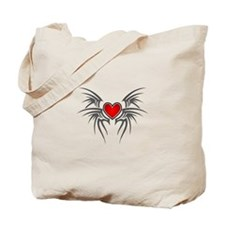 Tribal Heart Wings Tote Bag