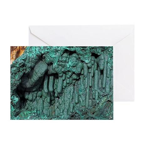 Malachite mineral sample - Greeting Card