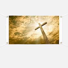 Stock Photo: cross against the sky - Banner