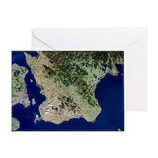 Malmo, satellite image - Greeting Card