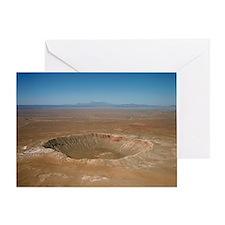 Meteor crater, Arizona - Greeting Card