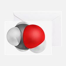Methanol molecule - Greeting Card