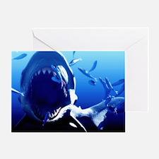 Megalodon prehistoric shark - Greeting Card