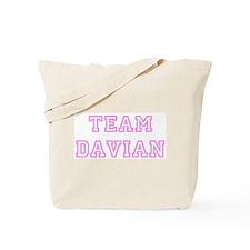 Pink team Davian Tote Bag
