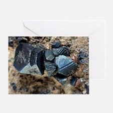 Monazite crystals - Greeting Card