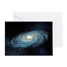 Milky way galaxy, artwork - Greeting Card
