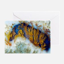 Moss agate - Greeting Card