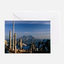 Mount St Helens volcano - Greeting Card