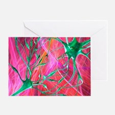 Nerve synapses, artwork - Greeting Card