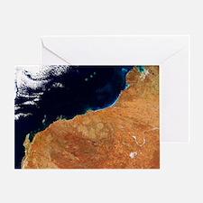 Northwestern Australia, satellite image - Greeting