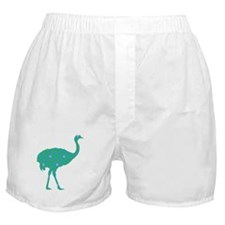 Ostrich Turquoise Hicks Boxer Shorts