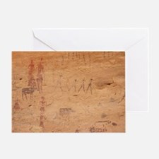 Pictograph of walking figures - Greeting Card