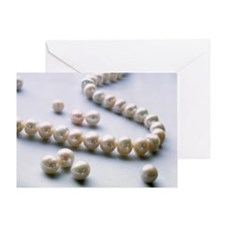 Pearl necklace - Greeting Card
