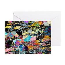 Peridotite rock - Greeting Card