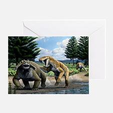 Permian animals, artwork - Greeting Card