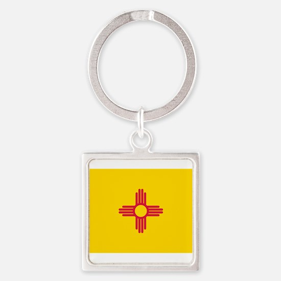 New Mexico flag Square Keychain