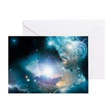 Primordial quasar, artwork - Greeting Card