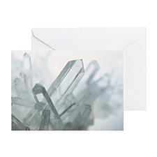 Quartz crystals - Greeting Card