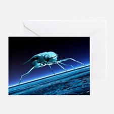Robotic fly, artwork - Greeting Card