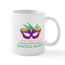 What Happens on Bourbon Street Small Mug