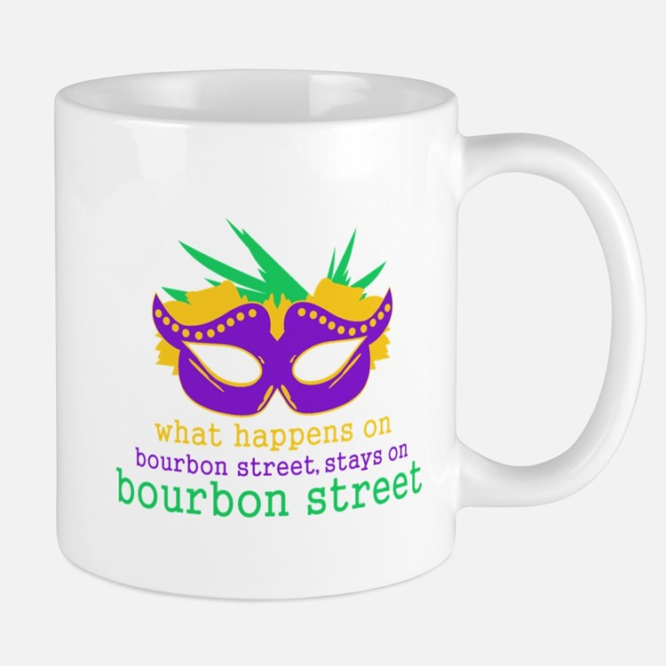 What Happens on Bourbon Street Small Small Mug