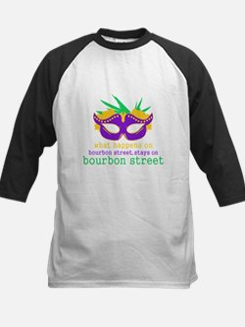What Happens on Bourbon Street Kids Baseball Jerse