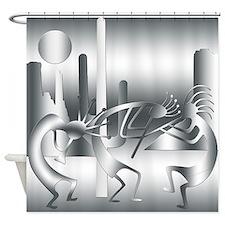 Kokopelli in shades of Gray Shower Curtain