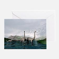 Sauropod dinosaurs - Greeting Card