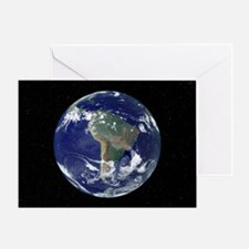 South America, satellite image - Greeting Card