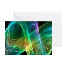 Strange attractor, artwork - Greeting Card