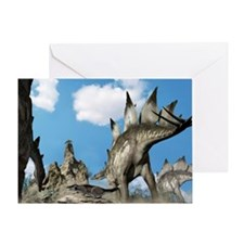 Stegosaurus dinosaur - Greeting Card