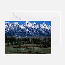Teton mountain range - Greeting Card