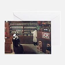 The Pharmacy, 1912 artwork - Greeting Card