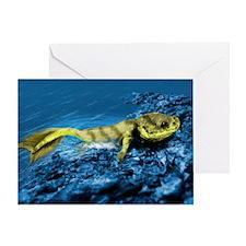 Tiktaalik prehistoric fish, artwork - Greeting Car