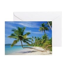 Tropical beach - Greeting Card