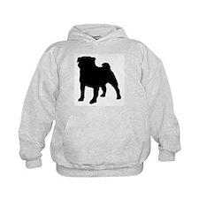 silhouette pug Hoodie